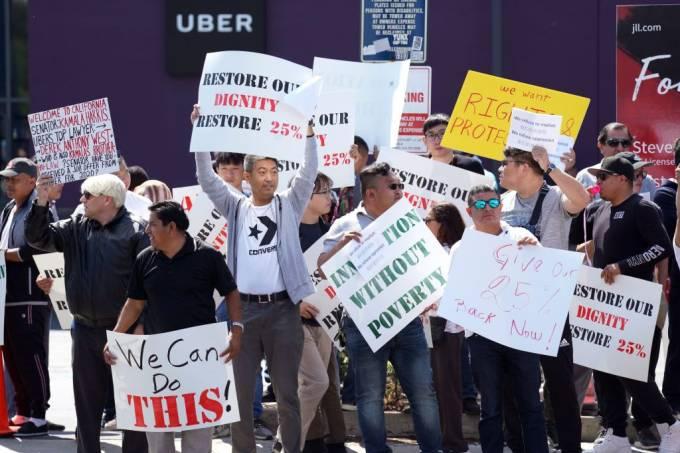 #UberOff: motoristas param um dia antes de IPO, incluindo no Brasil